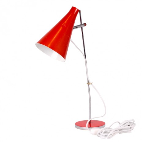 Lampa stolová červená